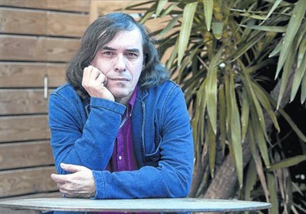 El escritor rumano Mircea Cartarescu en la Llibreria Laie de Barcelona, el pasado miércoles.