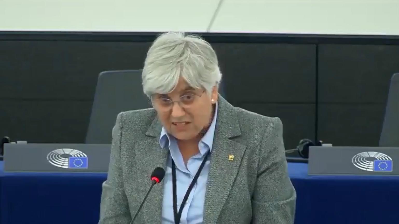 Estreno de Clara Ponsatí en el Parlamento Europeo, en el que asegura que España inspiró a Hitler