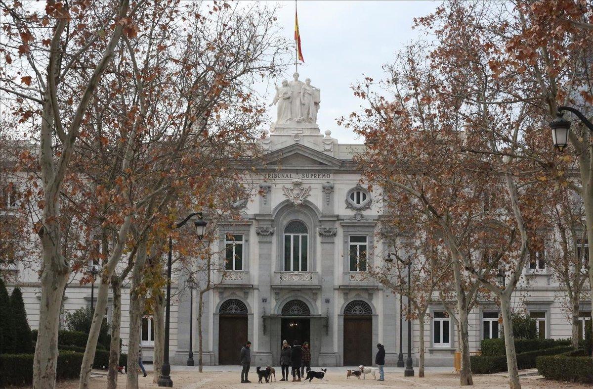 La fachada del Tribunal Supremo, donde en breve se celebrará el juicio al procés