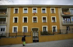 Fachada de la sede de laFundación Francisco Franco, enMadrid
