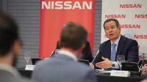 Gianluca Ficchy, presidente de Nissan Europa, explica el plan industrial en BCN.