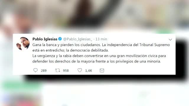Iglesias: Gana la banca, pierden los ciudadadanos