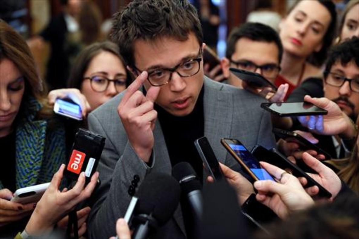 Íñigo Errejón 8Ante la prensa, el pasado jueves en el Congreso.
