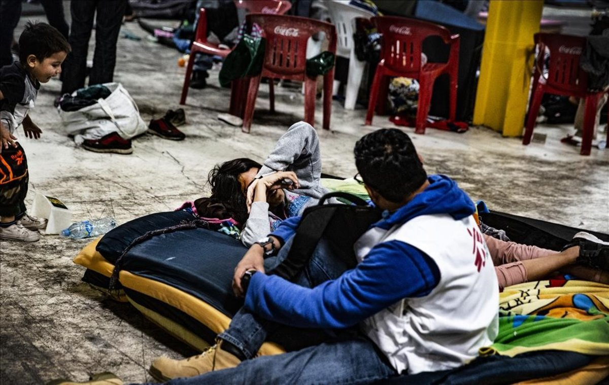 Inmigrantes centroamericanos a su paso por México camino de EEUU.