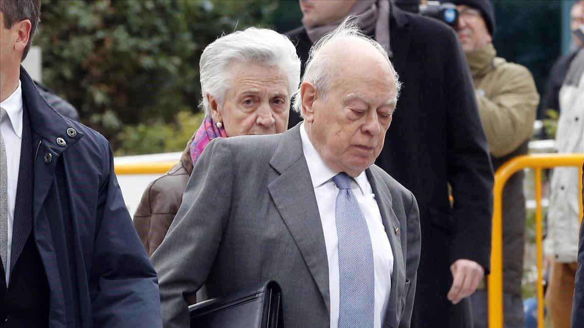 Jordi Pujol y Marta Ferrusola, en febrero del 2016