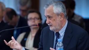José Antonio Griñán, este miércoles, durante el juicio por el caso ERE.