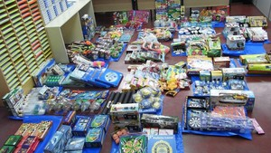 Imagen de archivo de juguetes chinos retirados de un bazar.