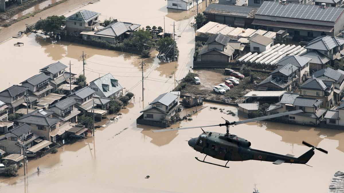 Las lluvias torrenciales dejan más de 100 muertos en Japón.