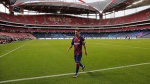 Leo Messi, en el estadio de La Luz, de Lisboa.