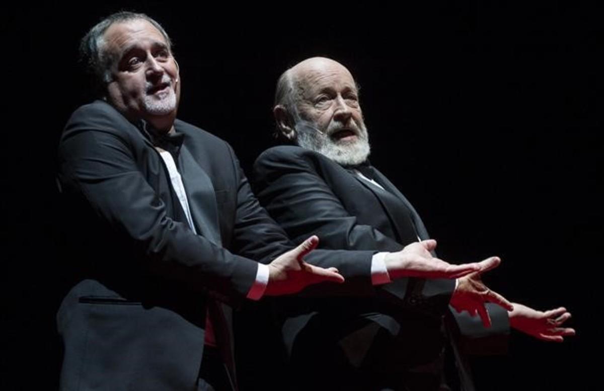 Martin OConnor (izquierda) y Marcos Mundstock en un momento del espectáculo.