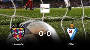 El Levante y el Eibar empatan y se llevan un punto (0-0)