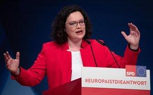 La líder del SPD alemán Andrea Nahles.