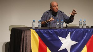 Lluís Llach, en su conferencia en Begues, este martes por la tarde.