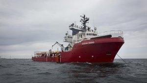 El barco 'Ocean Viking', el pasado julio