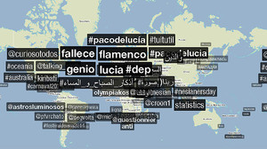#pacodelucía, #fallece o #flamenco han estat els més recurrents a les xarxes.