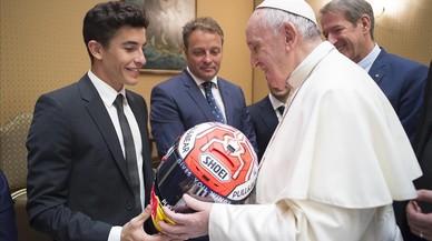 """El Papa a Márquez: """"Hay que vivir la vida con pasión"""""""