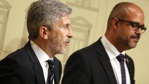 Marlaska i Buch es reuneixen a Barcelona pels disturbis