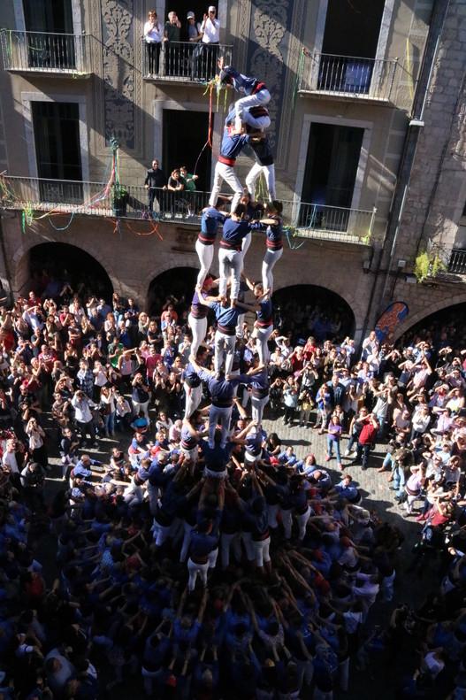 El quatre de nou amb folre dels Capgrossos de Mataró, en la Diada de Sant Narcís a Girona, aquest diumenge.