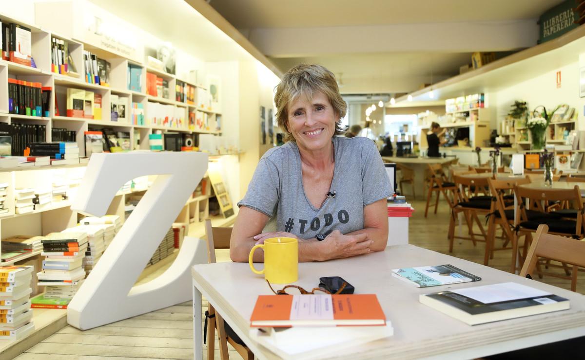 Mercedes Milá, en la librería +Bernat de Barcelona en la que se graba el programa 'Convénzeme'.