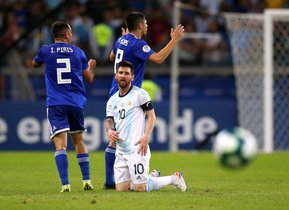 Lionel Messi con la selección argentina en la Copa América de Brasil.