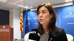 Mireia Borrell,secretaria de Acción Exterior y de la Unión Europea de la Generalitat, este miércoles en Bruselas.