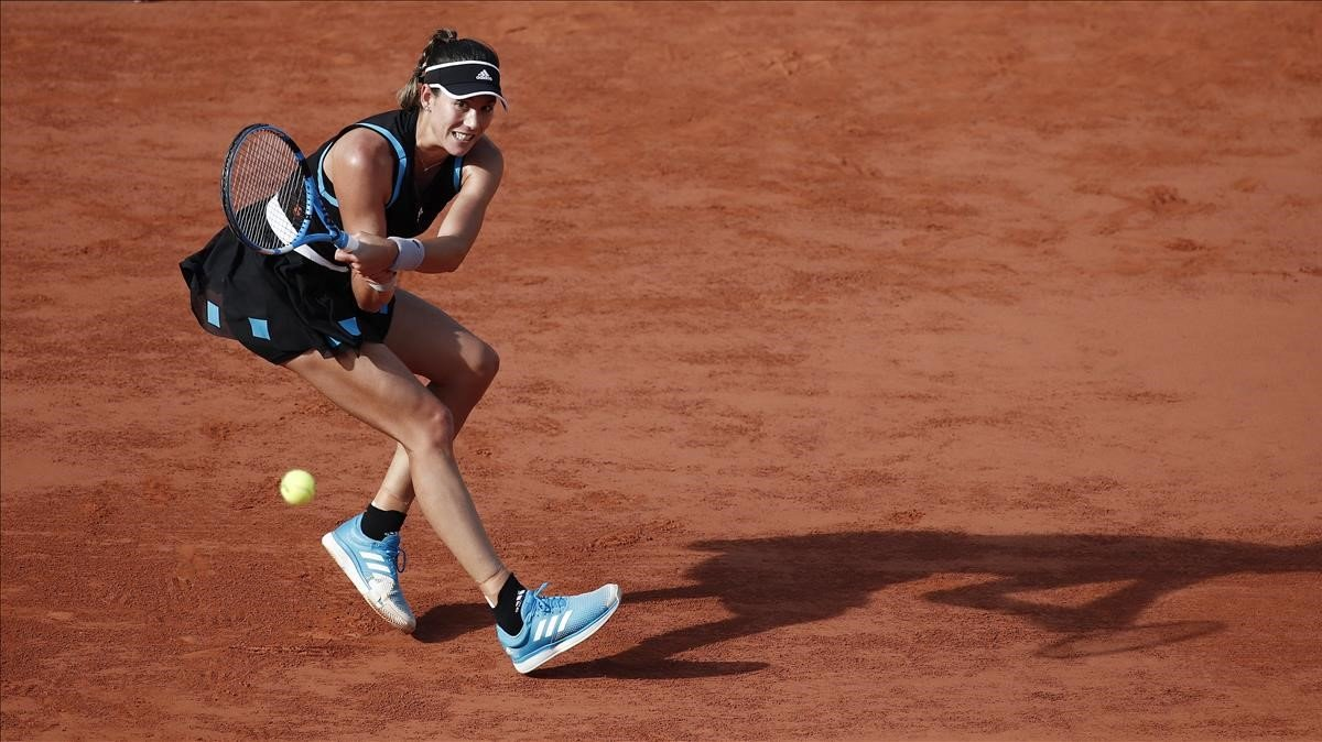 Muguruza en su partido contra Stephens en Roland Garros.