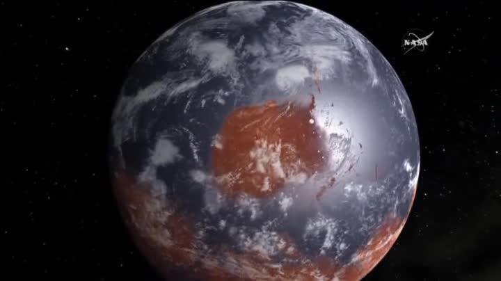 La NASA muestra pruebas de posible vida en Marte.