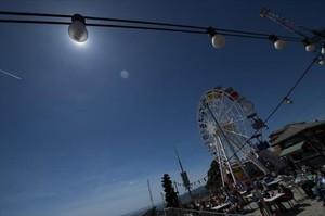 La noria del parque de atracciones del Tibidabo, en febrero del 2014, cuando se reabrió.