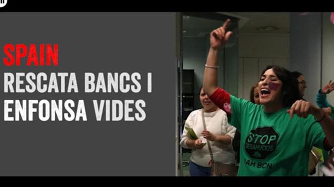 Òmnium Cultural replica en un video la campaña España Global del Gobierno.