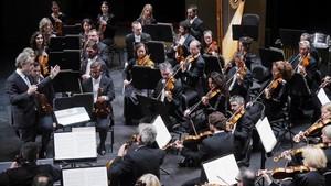 La Orquestra Simfònica del Liceu, en el Palacio de las Naciones Unidas de Ginebra