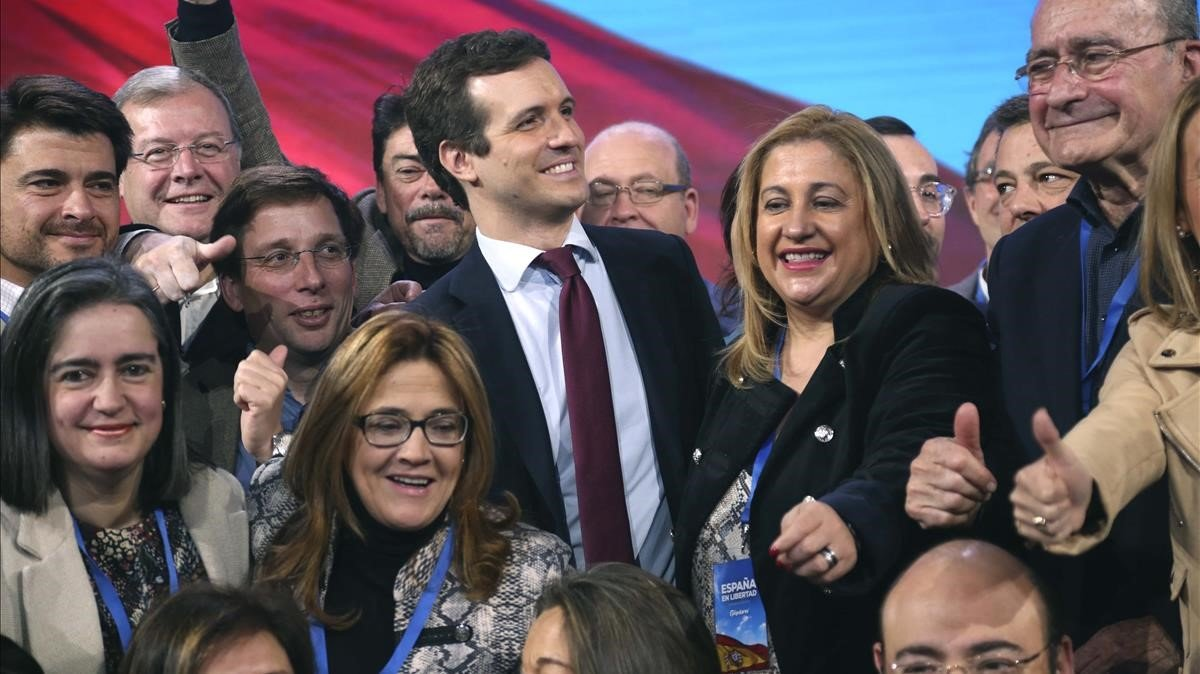 Pablo Casado durante la convención nacional del PP, en enero del presente año.