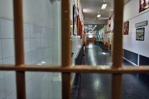 Un pasillo de la cárcel Modelo de Barcelona.