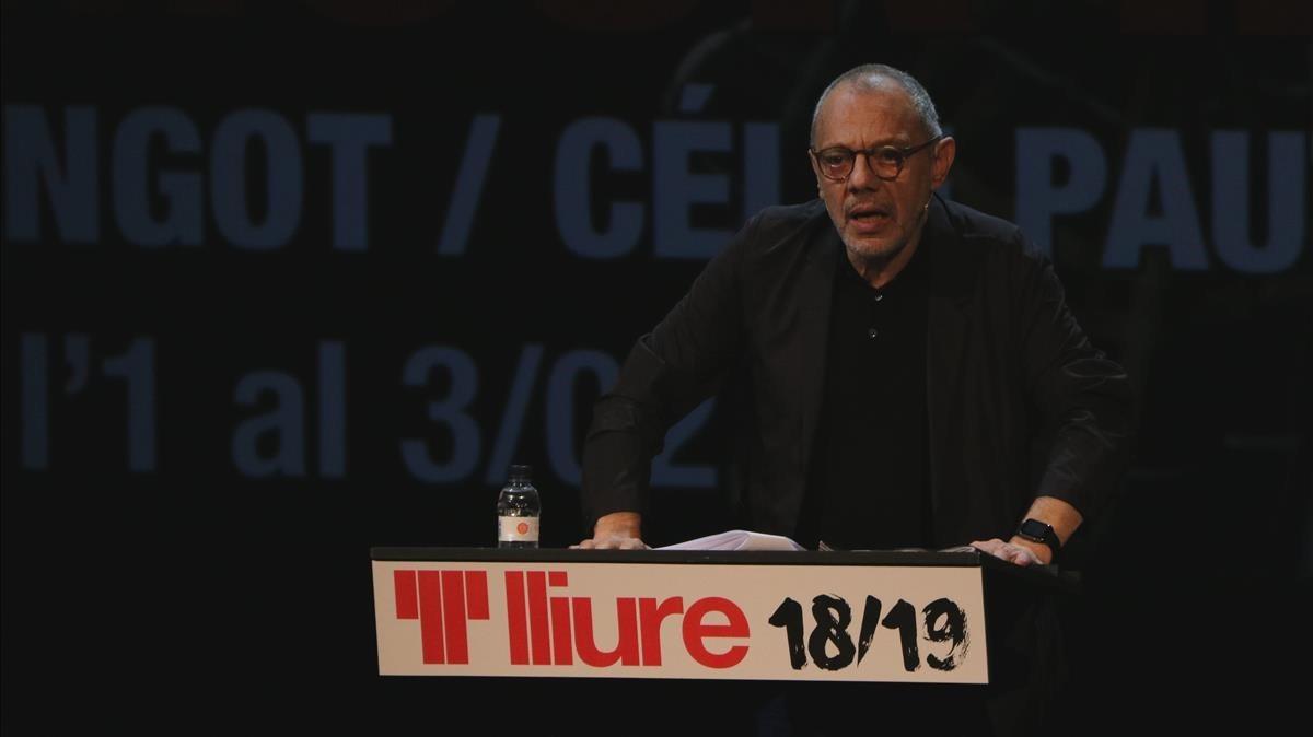Lluís Pasqual, en la presentación de la nueva temporada del Teatre Lliure.