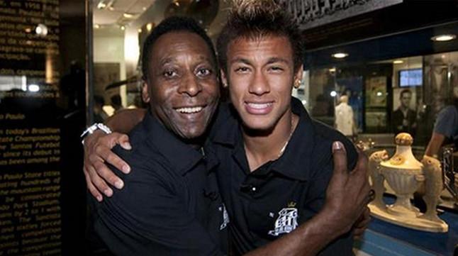 Pelé y Neymar, en una foto de archivo.