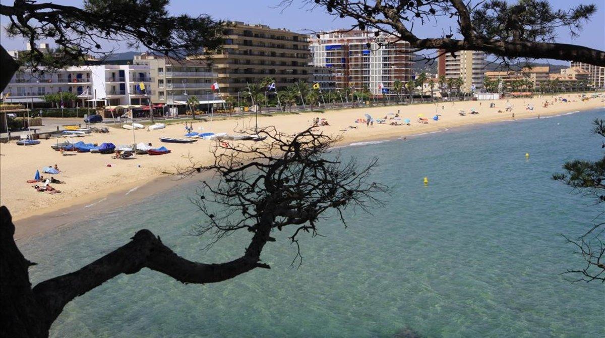La playa de Calonge.