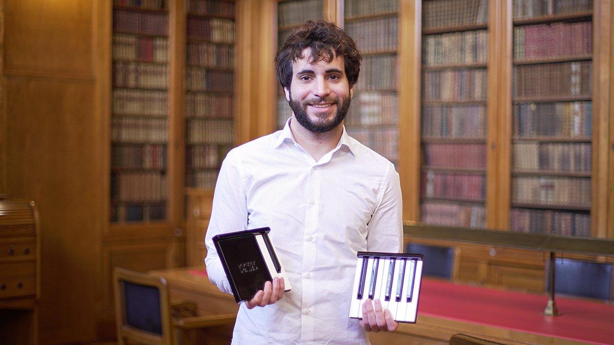 El emprendedor Josep Bergadà, creador de la empresa de Mataró Pocket Piano.