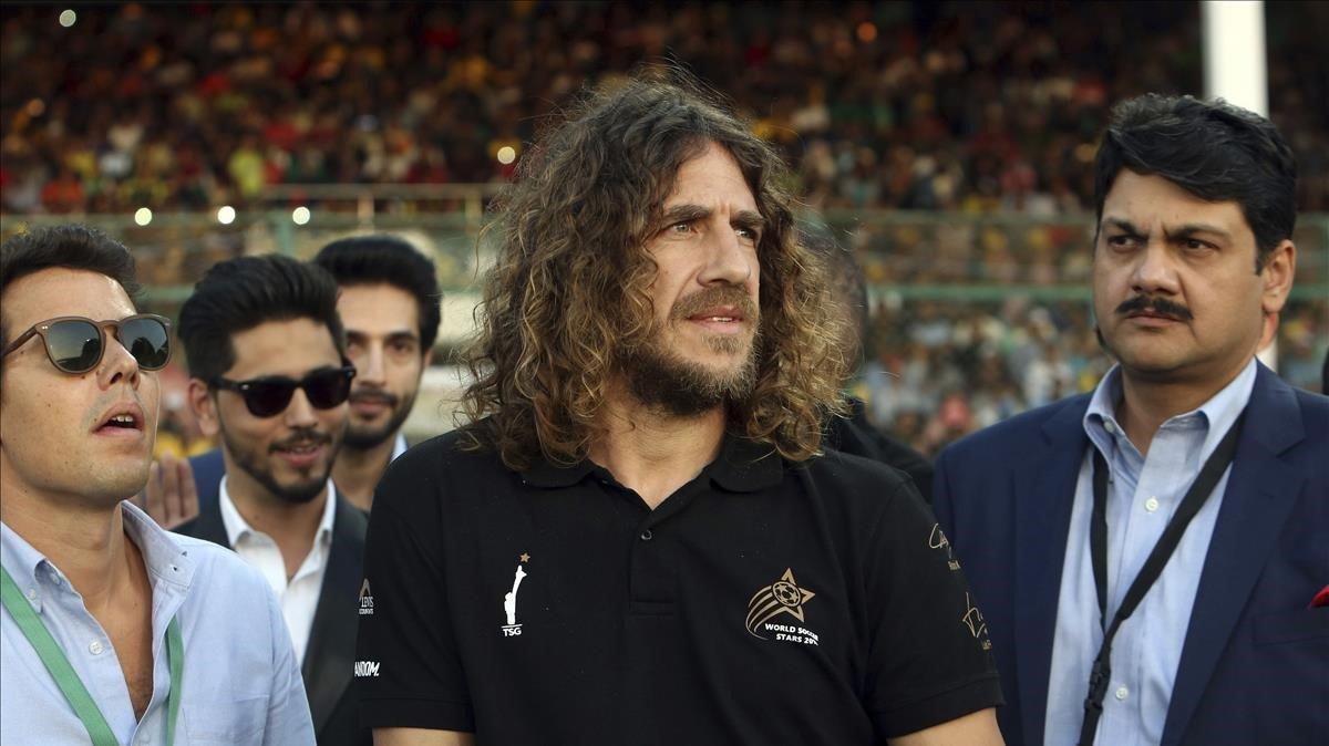 Carles Puyol en un evento en Pakistán.
