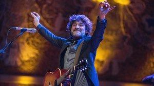 Quique González, en su actuación en el Palau de la Música