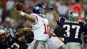 Espectacular lance en un partido de la Super Bowl.