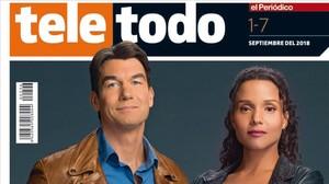 Portada del suplemento 'Teletodo'protagonizada por Jerry O'Connell y Sydney Tamiia Poitier.