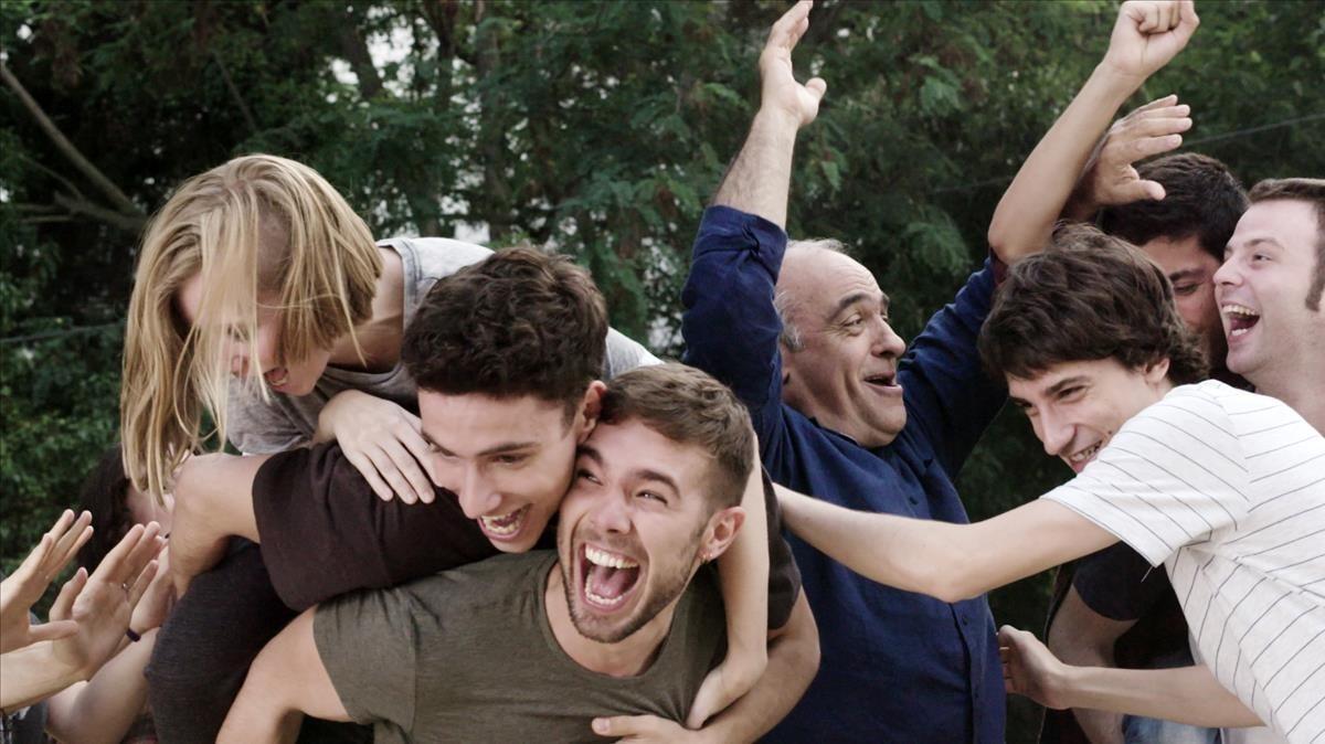 Los actores protagonistas de Merlí, en una escena de la serie de TV-3.