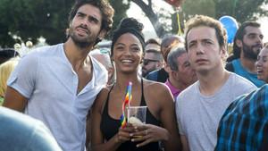 Chino Darín, Berta Vázquez yVito Sanz, en una escena de la película.
