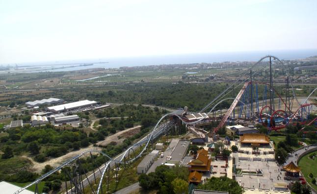 Terrenos del proyecto vistos desde Port Aventura.