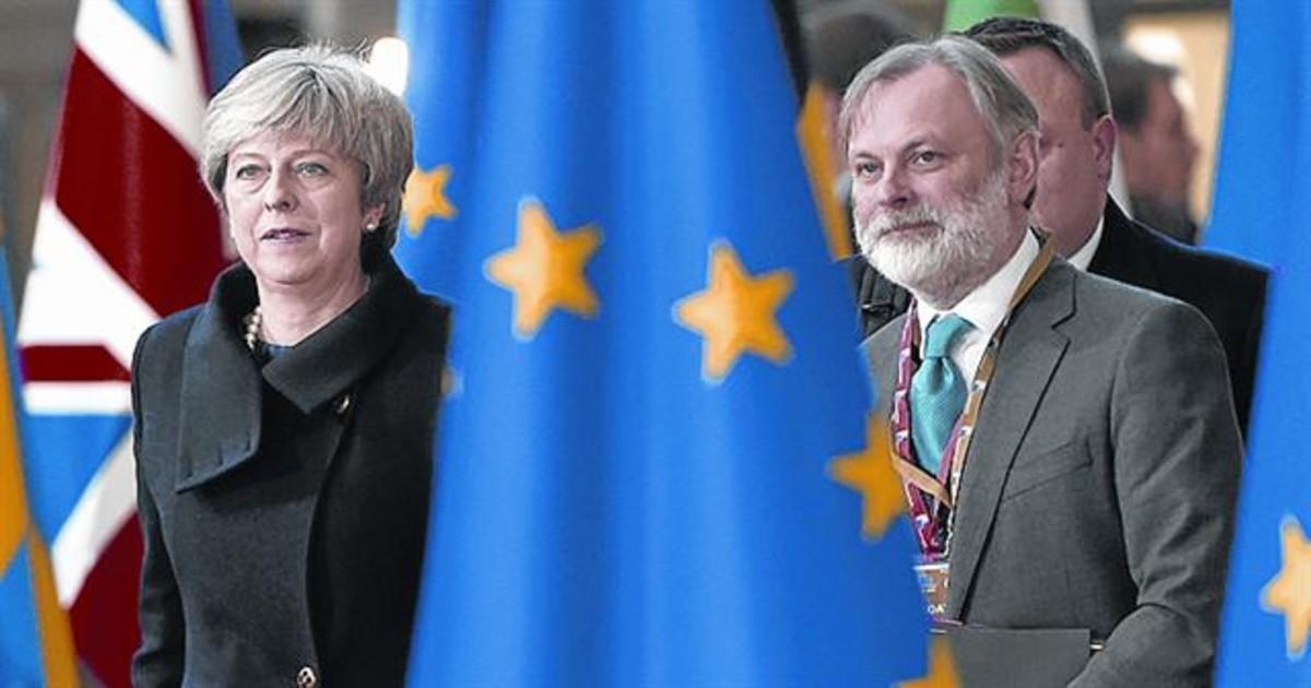 Theras May en una cumbre europea.