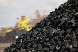 Una montaña de carbón.