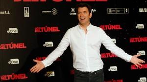 El actor y presentador Arturo Valls, en el cine Palafox de Madrid, donde presentó su primera película como productor,Los del túnel, estrenada el viernes.