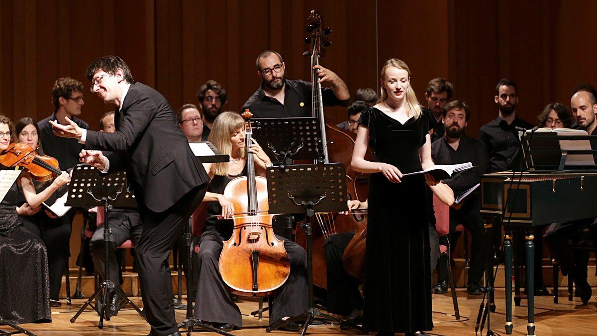 Václav Luks y la soprano Angela Hicks, en el Bachcelona.