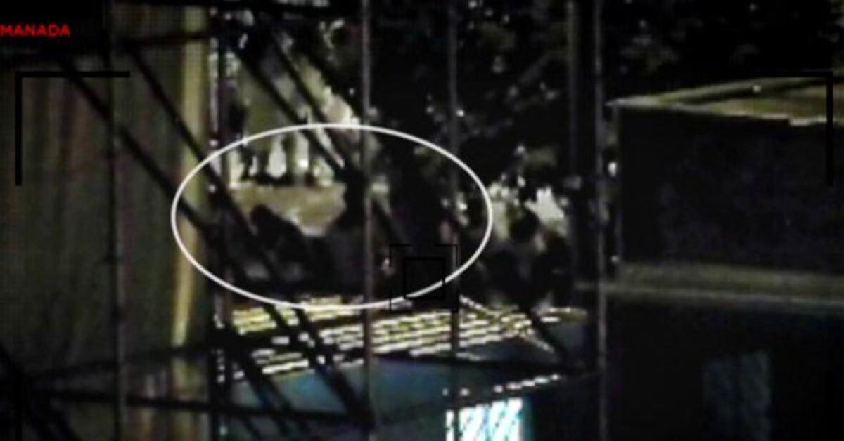 Vídeo del momento en el que la víctima se reunió con 'la Manada'