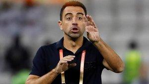 Xavi Hernández, el 14 de diciembre del año pasado, en el estadio de fútbol de Doha.