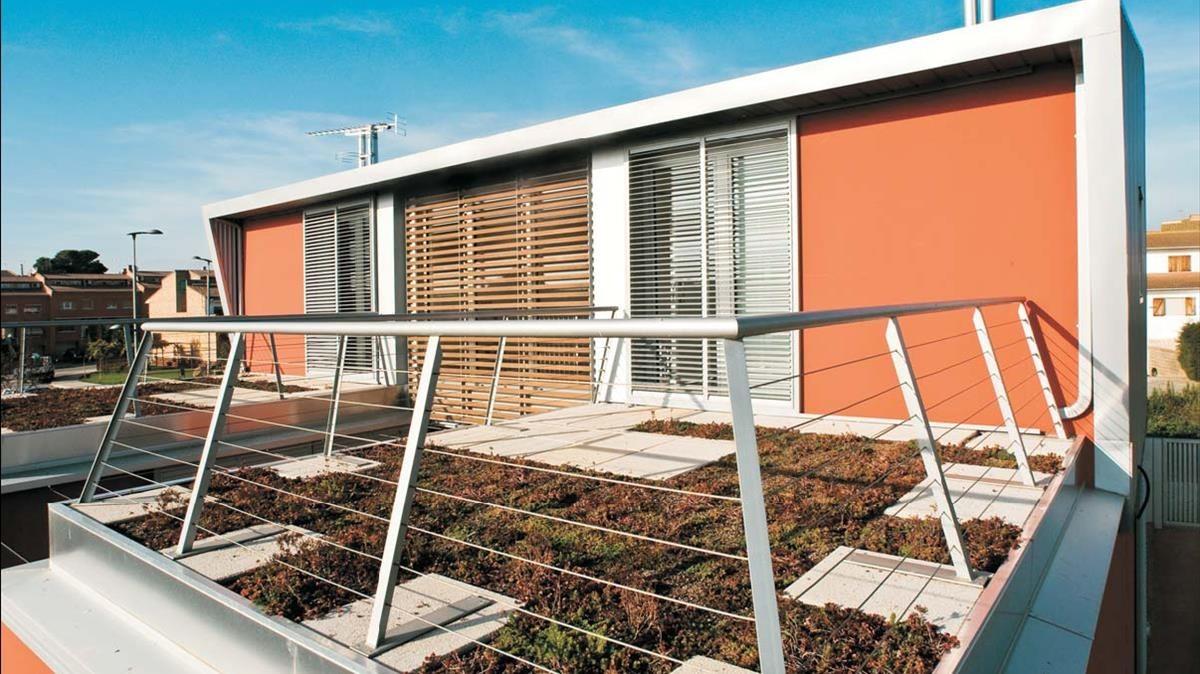 La casa Kioto, en Lleida, un inmueble sostenible.